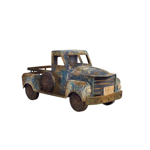 Blue Rustic Pickup Truck