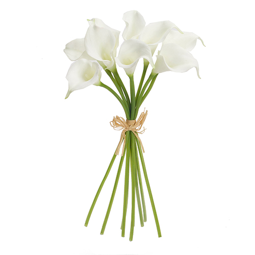 White Calla Lily Bouquet, Set of 6