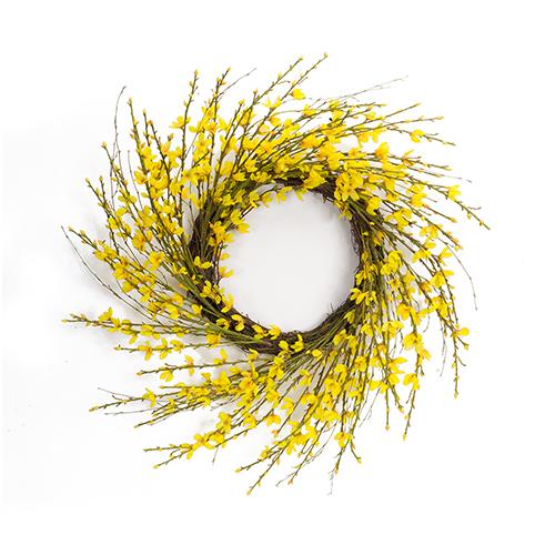 Yellow Forsythia Wreath