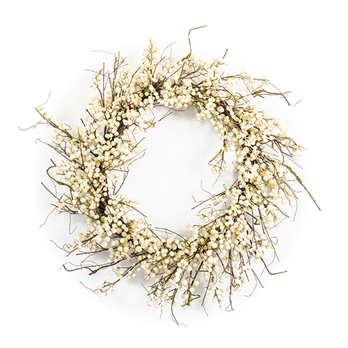 White and Brown Berry Wreath