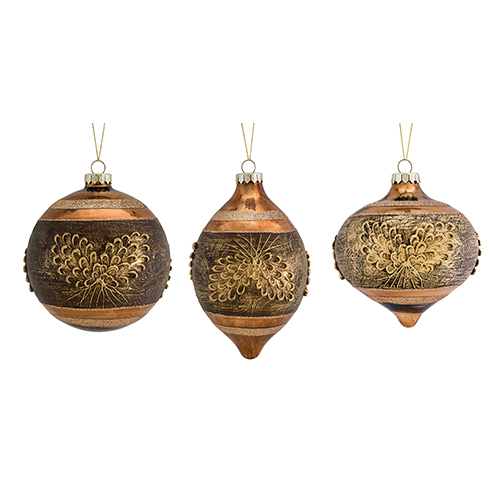 Pine Cone with Pine 6.75 In. Ornament, Set of Six