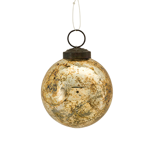 Silver and Gold 3 In. Ball Ornament, Set of 12