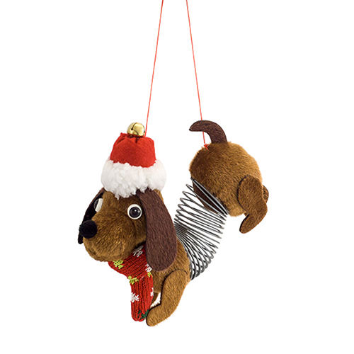 Brown Slinky Dog Ornament, Set of 12