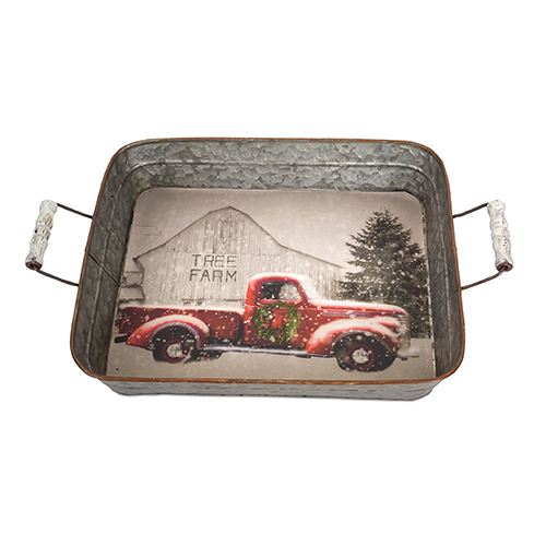 Red Truck Tray, Set of Two