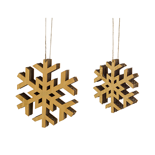 Wood Snowflake Ornament, Set of 12