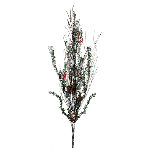 Mini Leaf, Berry and Cone Branch, Set of 12