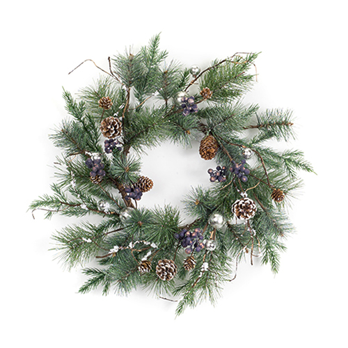 Pine, Ornament and Berry 25 In. Wreath