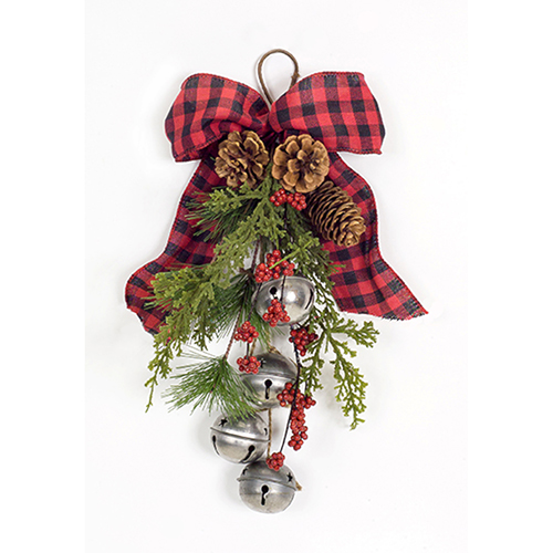 Pine and Bell Package Tie, Set of Six
