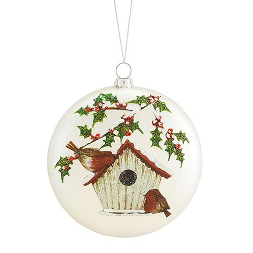 Birdhouse Disc Ornament, Set of 12