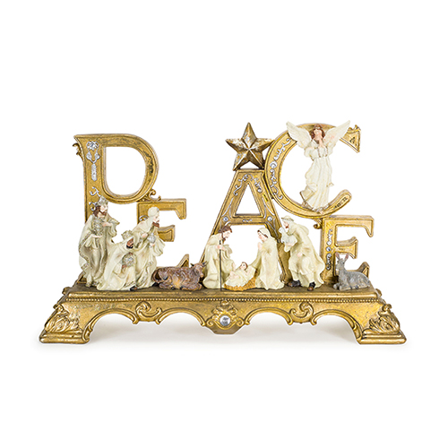 Gold and White Peace Nativity