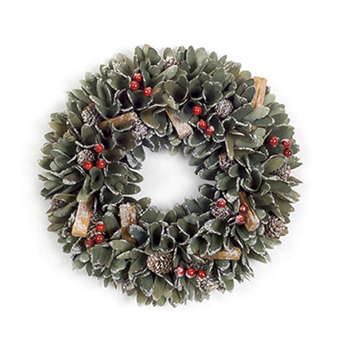 Melrose International Pine Cone and Berry 13 In. Wreath, Set of Two