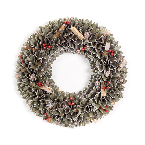 Pine Cone and Berry 18 In. Wreath