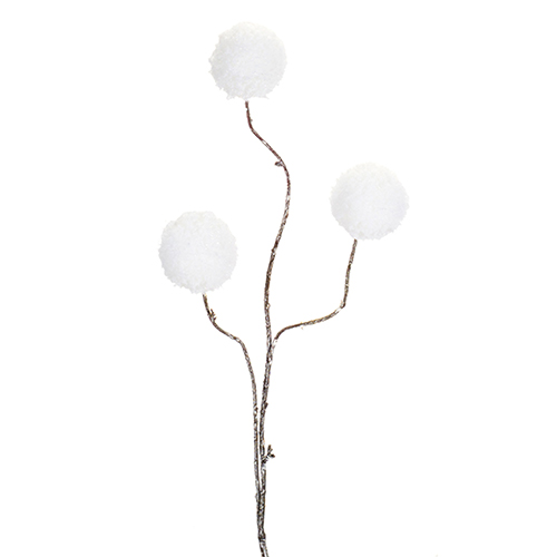 Cotton Snowball Spray, Set of 12