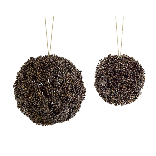Brown Seed Ornament, Set of Eight