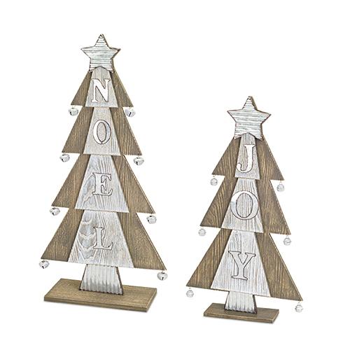Joy and Noel Tree, Set of Two