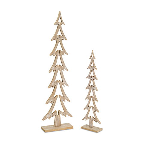 Wood Tree Cut-Out, Set of 12