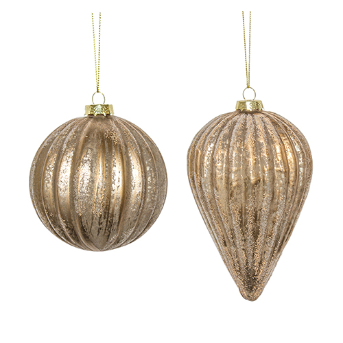 Copper and White Ornament, Set of Six