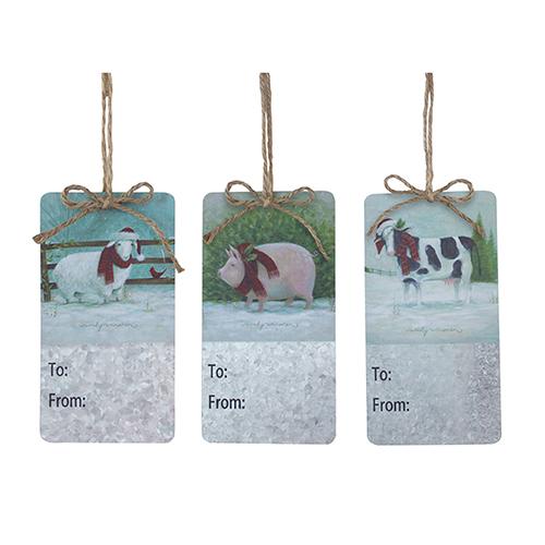 Farm Animal Tag, Set of 12