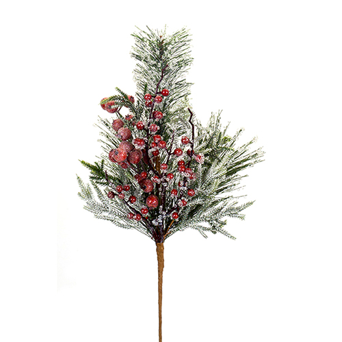 Iced Pine and Berry Spray, Set of 12
