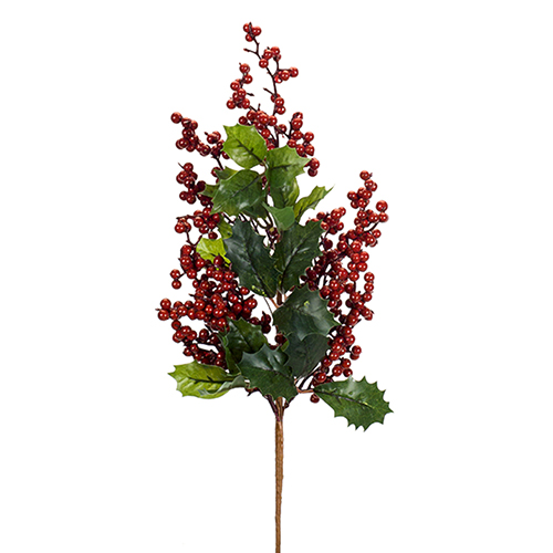Holly Leaf and Berry Spray, Set of 12