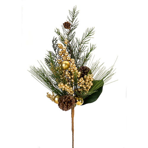Mixed Pine and Berry Spray, Set of 12