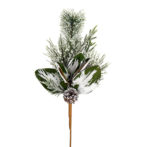 Iced Pine and Cone Spray, Set of 12