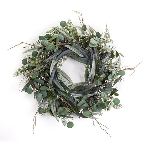 Pine, Eucalyptus and Berry 24.5 In. Wreath