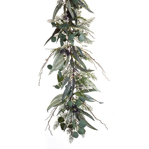 Pine, Eucalyptus and Berry Garland