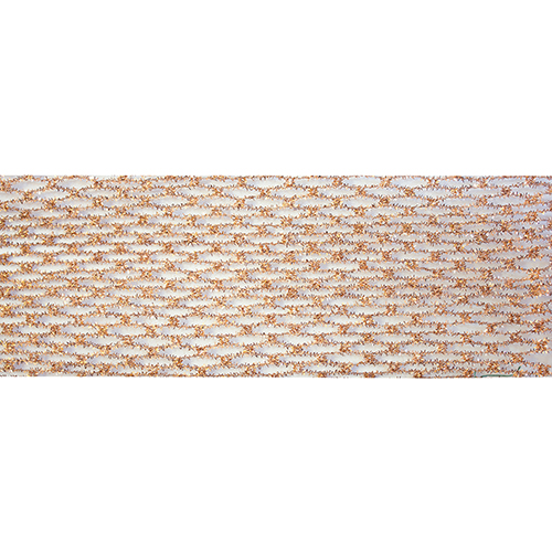 Copper Wired Metallic Ribbon, Set of Six Rolls