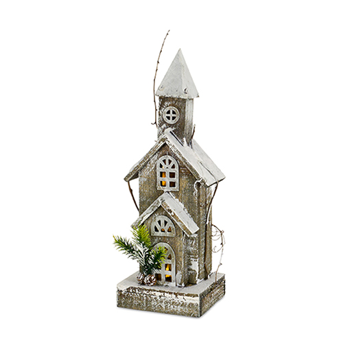 Wood 18 In. Church, Set of Two
