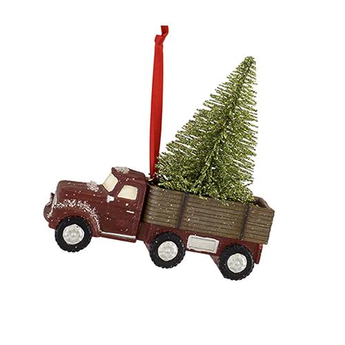 Tree in Truck Ornament, Set of Six