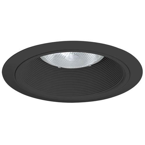 24 BBL 6-Inch Baffle Trim Black Baffle with Black Ring