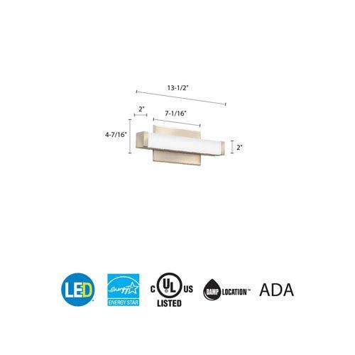Lithonia Lighting FMVCSL 12IN MVOLT 30K 90CRI BN M6 Contemporary Square 1 Foot Brushed Nickel 3K LED Vanity Light