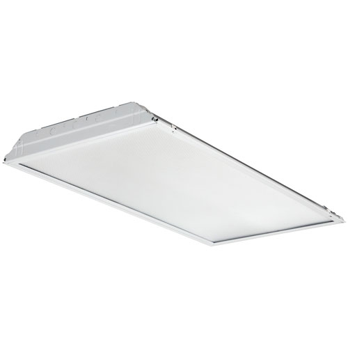 2GTL4 5000LM LP835 2 ft. x 4 ft. White LED Lay In Troffer with Prismatic Lens 3500K