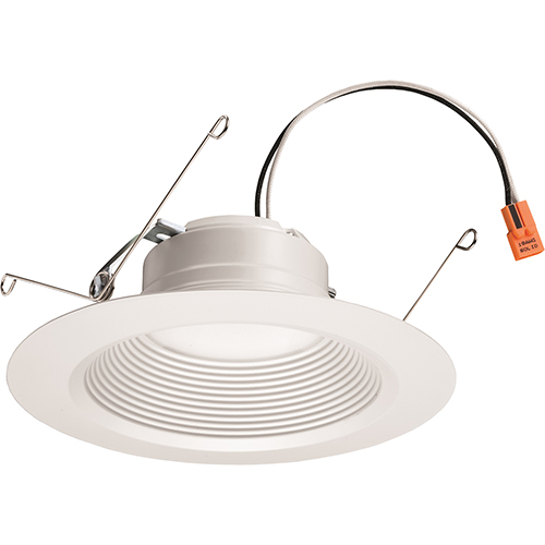 5/6 Inch White Retrofit LED Recessed Downlight, 12W Dimmable with 3500K Bright White, 825 Lumens