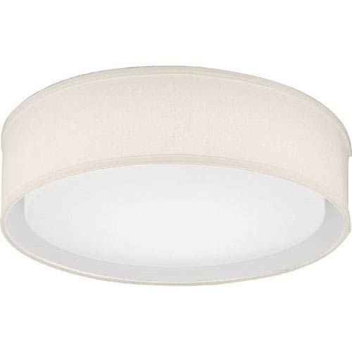 Lithonia Lighting FMABFL 16 20830 F21 M4 Aberdale 16 in. Tan Linen LED Flush Mount 3000K
