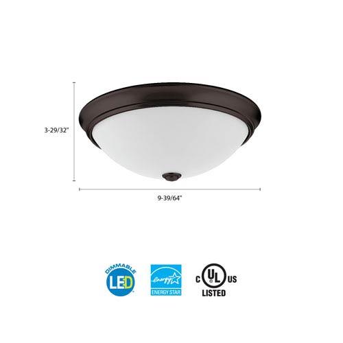 Lithonia Lighting FMDECL 10 14840 BZ M4 Essentials 10 in. Bronze LED Decor Round Flush Mount 4000K