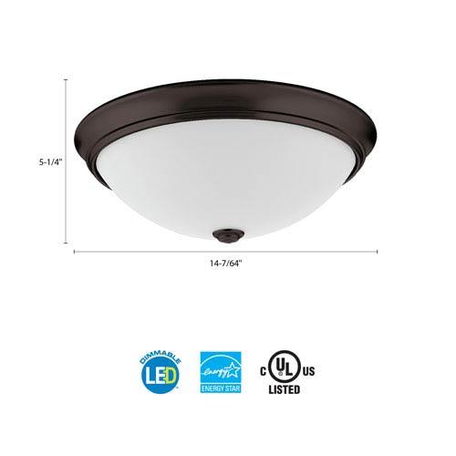 Lithonia Lighting FMDECL 14 20840 BZ M4 Essentials 14 in. Bronze LED Decor Round Flush Mount 4000K