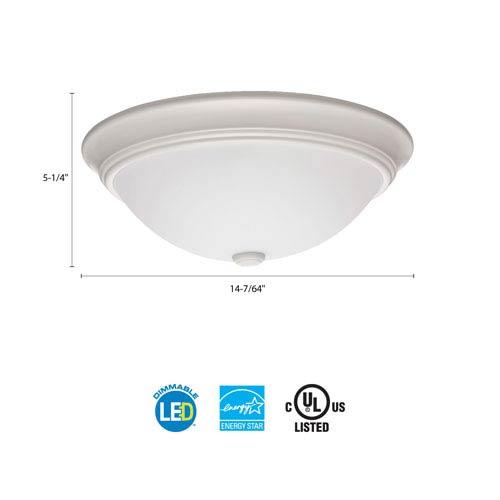 FMDECL 14 20830 WH M4 Essentials 14 in. White LED Decor Round Flush Mount 3000K