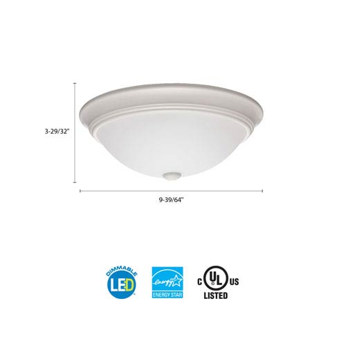 Lithonia Lighting FMDECL 10 14830 WH M4 Essentials 10 in. White LED Decor Round Flush Mount 3000K