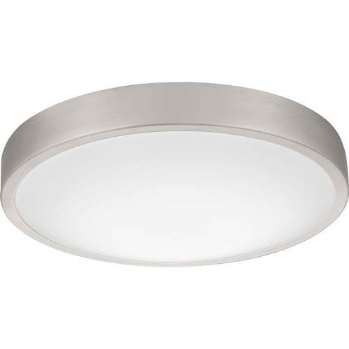 Lithonia Lighting FMLACL 14 20830 BA M4 Lacuna 14 in. Brushed Aluminum LED Flush Mount 3000K