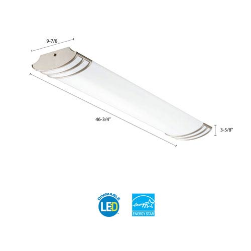 FMLFUTL 48 840 BN 4 Foot Brushed Nickel LED Linear Flush Mount 4000K