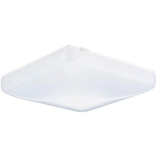 Lithonia Lighting FMLSDL 12 14840 M4 12 In. White LED Low-Profile Residential Square Flush Mount Puff  4000K 1400 Lumens