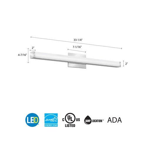Lithonia Lighting FMVCSL 36IN MVOLT 30K 90CRI KR M4 Contemporary Square 3  Foot Chrome 3K LED