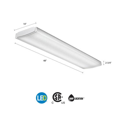 LBL4 LP840 White LED Curved Wraparound Ceiling Light 4 Feet 4K Lumens