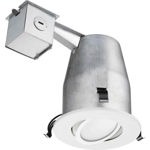 Lithonia Lighting LK4G2MW LED 50K M4 4-Inch Gimbal Kit with Integrated LED in White