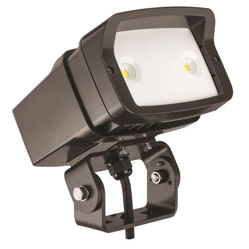 Lithonia Lighting OFL1 LED P1 50K MVOLT YK DDBXD M4 Size 1 Flood Light Yoke Mounted