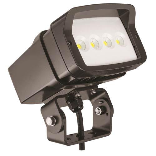 Lithonia Lighting OFL1 LED P2 40K MVOLT YK DDBXD M4 Size 1 Flood Light Yoke Mounted