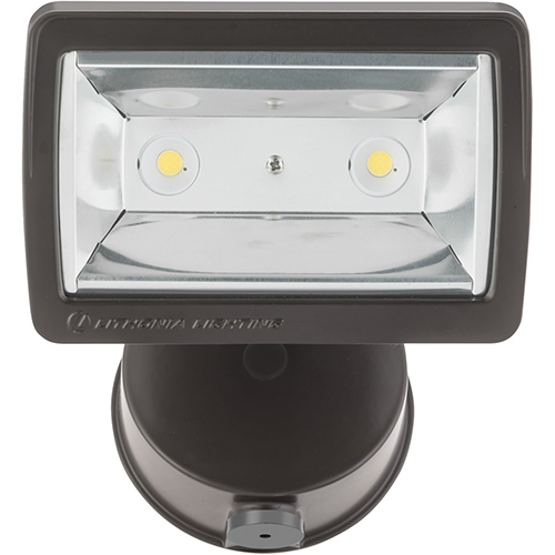 Glass photocell outdoor lighting bellacor lithonia lighting 1 square head bronze outdoor flood light with dusk to dawn photocell aloadofball Images