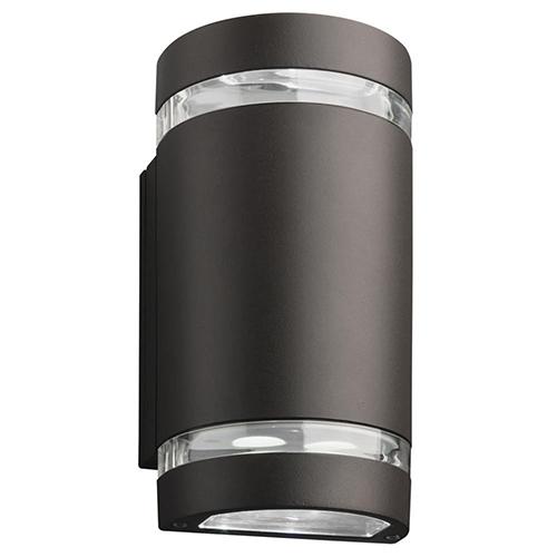 OLLWU LED P1 40K MVOLT DDB M6 Dark Bronze LED Outdoor Cylinder Up and Down Light, MVOLT 4000K, 9W